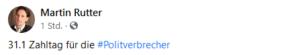 """Rutter 2021: """"31.1. Zahltag für die Politverbrecher"""""""
