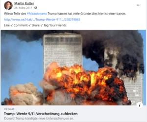 Rutter 2017: 9/11-Verschwörung