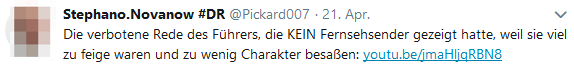 S. teilt verbotene Hitler-Rede