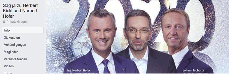 """Titelfoto Gruppe """"Sag ja zu Herbert Kickl und Norbert Hofer"""""""