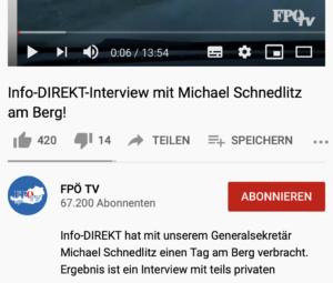 Interview Info-Direkt mit Schnedlitz auf FPÖ-TV