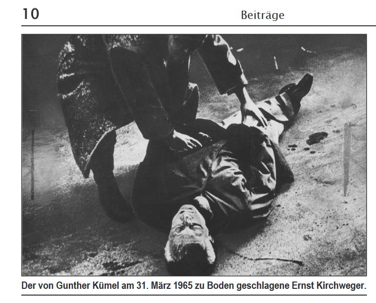 der von Kümel niedergeschlagene Ernst Kirchweger (Foto: Alfred Klahr Gesellschaft)