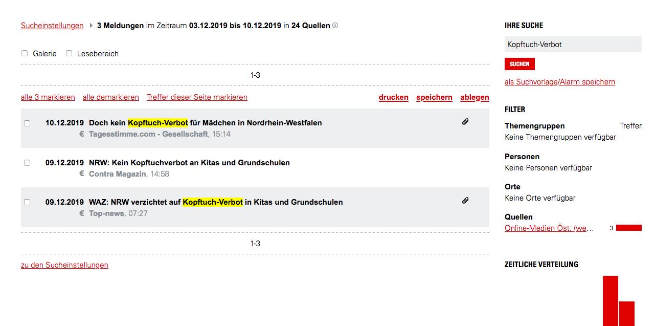 """AOM listet bei der Suche """"Tagesstimme"""" und """"Contra Magazin"""""""