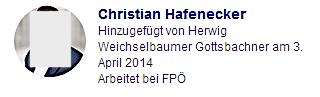 """Christian Hafenecker in der Gruppe """"FPÖ Seitenadminitratoren"""" hinzugefügt"""