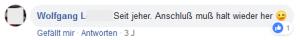 """Wolfgang L.: """"Seit jeher. Anschluß muß halt wieder her 'Zwinkeremoji'"""""""