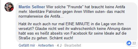 """Sellner in FB-Gruppe """"Der blaue Stammtisch"""""""