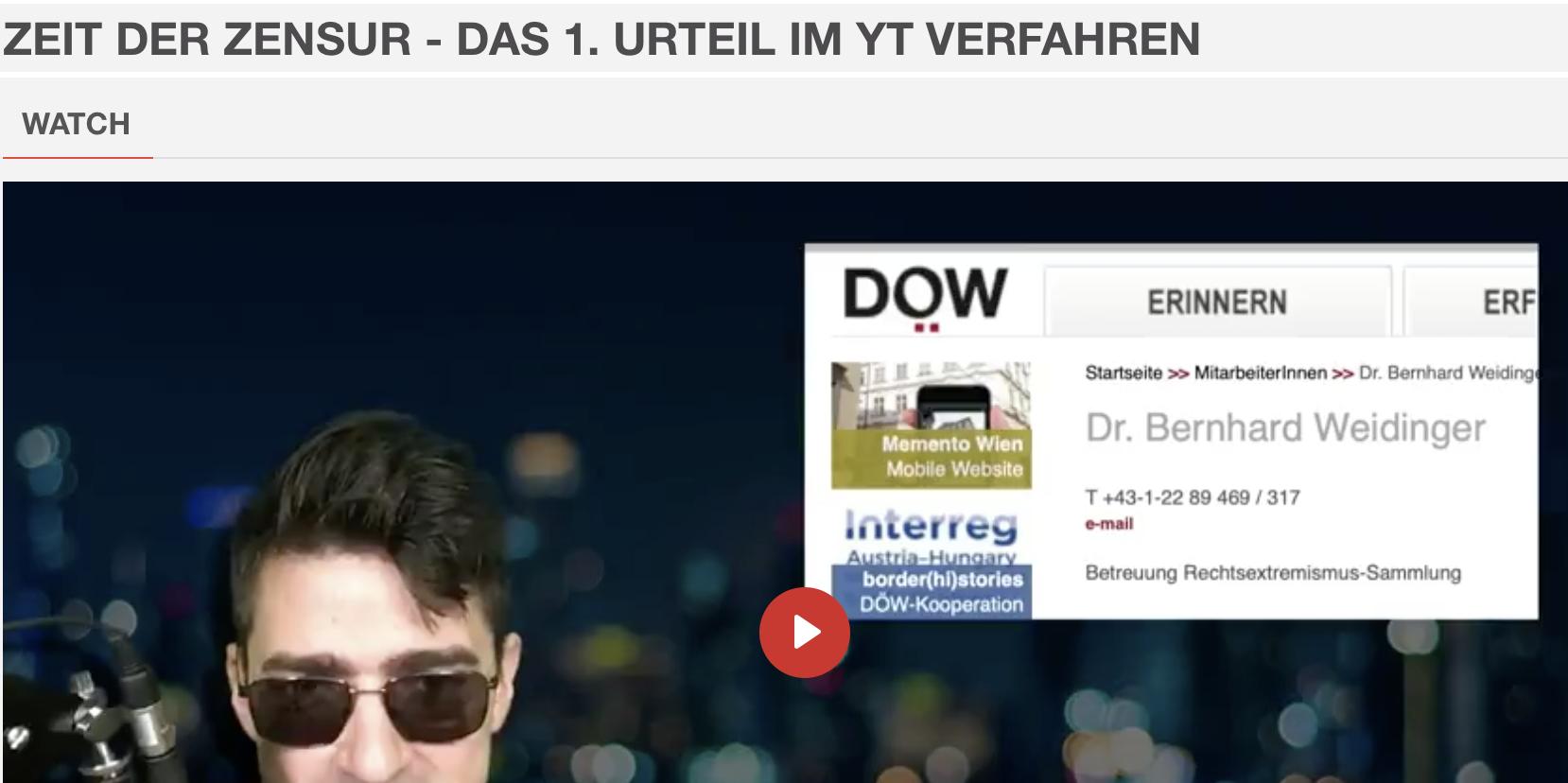Sellner im Video zu Bernhard Weidinger (Screenshot Bitchute)