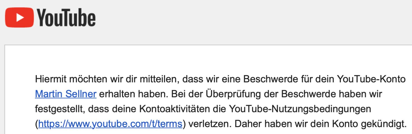 YouTube kündigt Martin Sellners Account