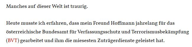 """Siegfried M. über KH Hoffmann: """"Verräter"""""""
