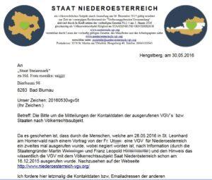 """Der Staatenbund in der Krise: """"Staat Niederösterreich"""" gegen """"Staat Steiermark"""""""