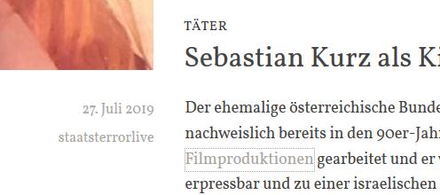 """""""Staatsterror"""" zu Kurz"""