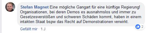 Stefan Magnet auf Straches FB-Account für härtere Gangart