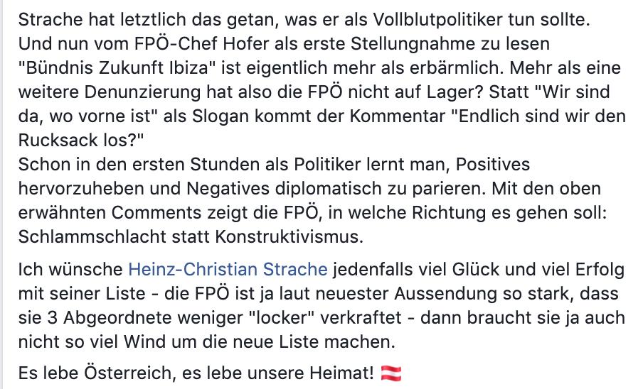 Stefan Tichy über die FPÖ: Hofer ... mehr als erbärmlich