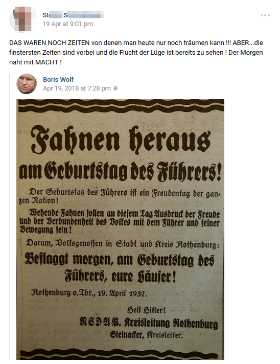"""""""Fahnen heraus am Geburtstag des Führers"""""""