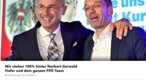 """Facebook-Gruppe """"Wir stehen 100% hinter Norbert Gerwald Hofer"""""""
