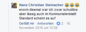 """Steinacher bezeichnet den """"Standard"""" als """"Kommunistenblattl"""""""