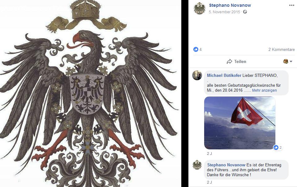 """St.S. auf Facebook zum 20.4.: """"Es ist der Ehrentag des Führers"""""""