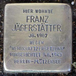Stolperstein Franz Jägerstätter