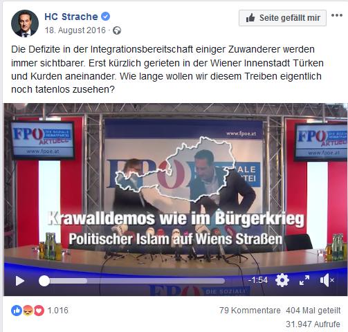 """Strache: Wien """"wie im Bürgerkrieg"""""""