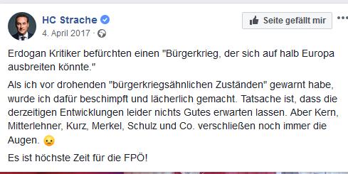 "Strache: ""Bürgerkrieg"" in ""halb Europa"""