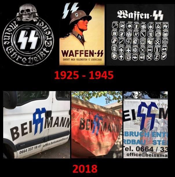 Strafbare Abzeichen (Screenshot FB Eytan Reif)