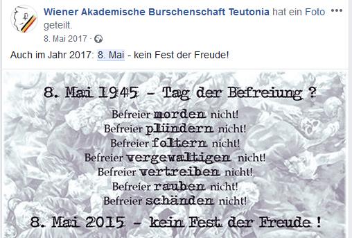 "Teutonia: ""kein Fest der Freude"" am 8. Mai"