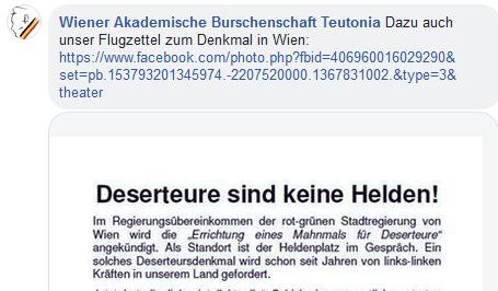 "Teutonia: ""Deserteure sind keine Helden!"""