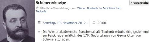 """Teutonia: Einladung zur """"Schönerer-Kneipe"""" 2012"""