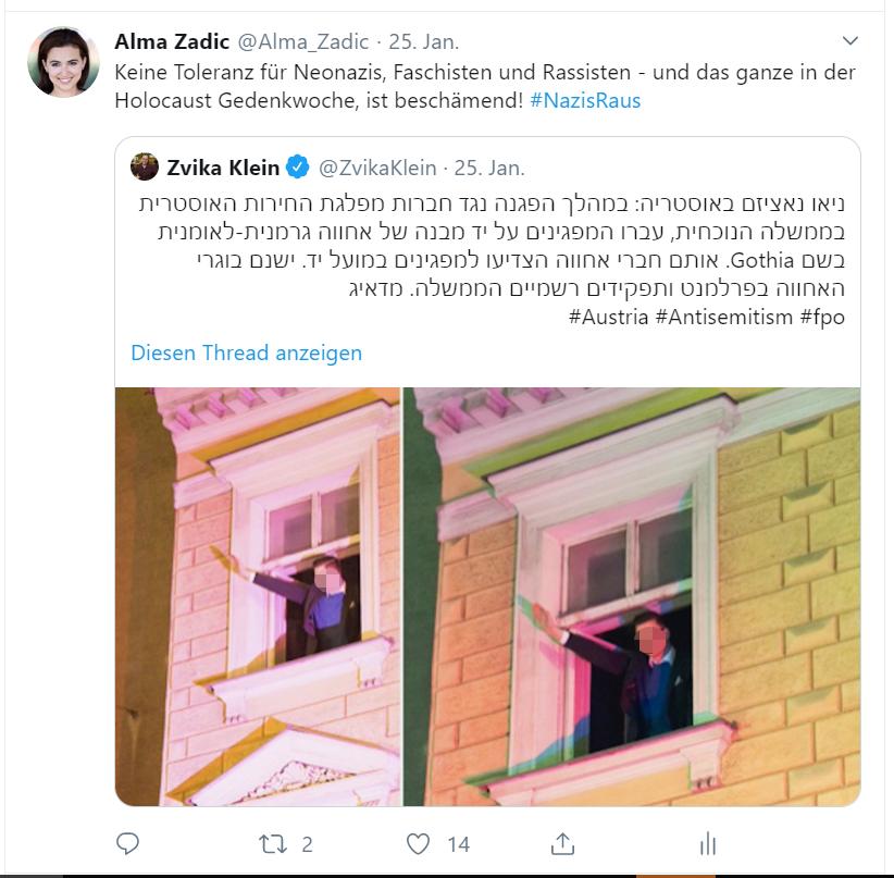 Tweet Alma Zadić