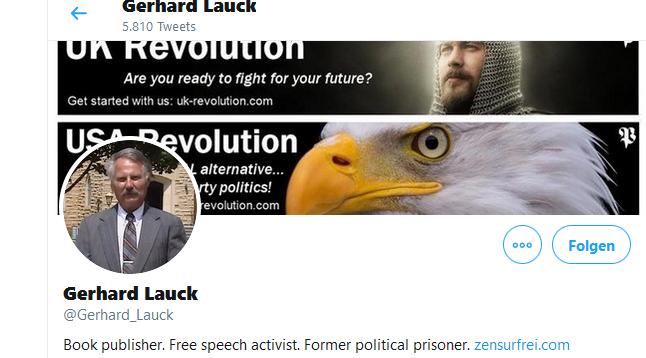 Gary Lauck auf Twitter