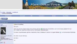 """Tyr stellt sich im Alpen-Donau-Info-Forum vor: """"bin überzeugter Nationalsozialist"""""""
