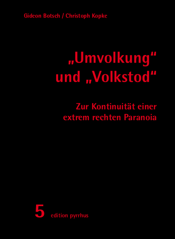 """Cover Botsch/Kopke, """"Umvolkung"""" und """"Volkstod"""""""
