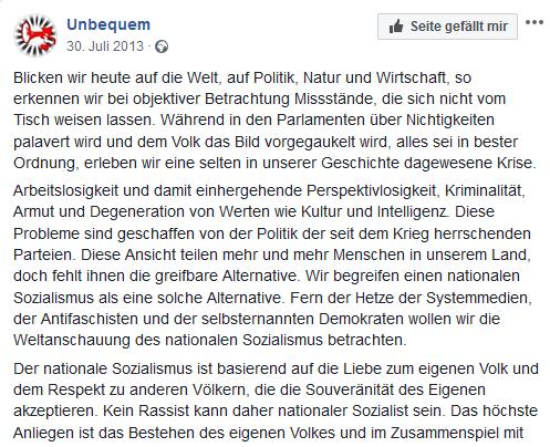 """""""Unbequem"""": Nationaler Sozialismus (30.7.13)"""