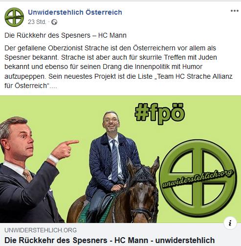 """Unwiderstehlich über """"Oberzionist Strache"""""""