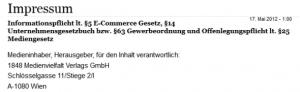 """Adresse """"unzensuriert"""" 2012: Schlösselgasse 11"""