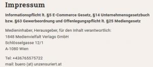 """Adresse """"unzensuriert"""" aktuell: Schlösselgasse 12"""