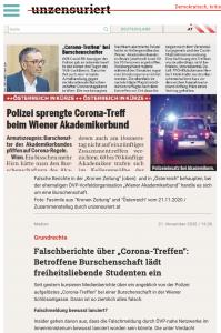 """""""unzensuriert"""" zur Verwechslung WAB und Burschenschaften: """"Falschmeldung durch ÖVP-nahe Netzwerke im Innenministerium"""""""