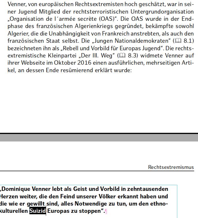 """Verfassungsschutzbericht zum Rechtsterroristen Dominique Venner, der vom """"Suizid Europas"""" spricht"""