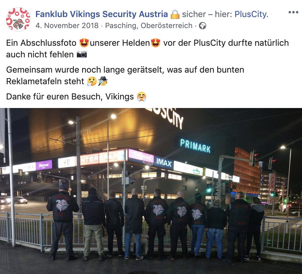 Ein satirischer Fanklub begleitete die Linzer Vikings, um sie danach bloßzustellen