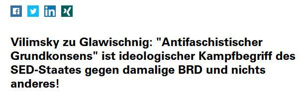 Harald Vilimsky zum antifaschistischen Grundkonsens