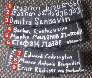 """Waffenteile des Attentäters von Christchurch mit Aufschrift """"Ernst Rüdiger von Starhemberg"""""""