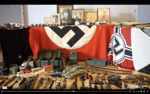 NS-Devotionalien und Waffen im Neonazi-Netzwerk von Peter B. (Quelle: BM.I)