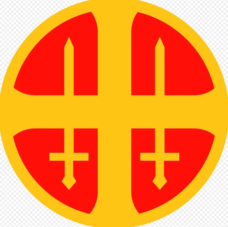 """Emblem """"Hirden"""", der NS-freundlichen paramilitärischen Organisation während der Nazi-Besetzung in Norwegen"""