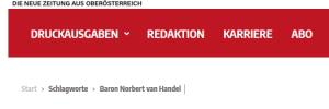 """""""Wochenblick"""" und """"Baron von Handel"""""""