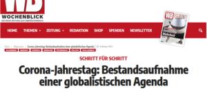 """Wochenblick: Corona als """"globalistische Agenda"""""""