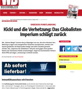 "Wochenblick: Parlamentarischer Immunitätsausschuss als ""Globalisten-Imperium"""