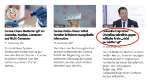 Startseite Wochenblick 22.9.21 (2): FPÖ-Werbung & Corona-Unsinn