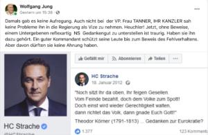 Wolfgang Jung klaut von SdR (Strache-Screenshot von SdR 13.9.2018)