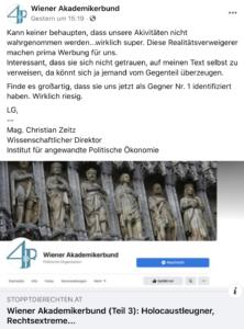 """Der """"wissenschaftliche Direktor"""" Zeitz teilt SdR"""