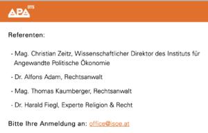 Presseaussendung 29.10.20: Zeitz als Direktor